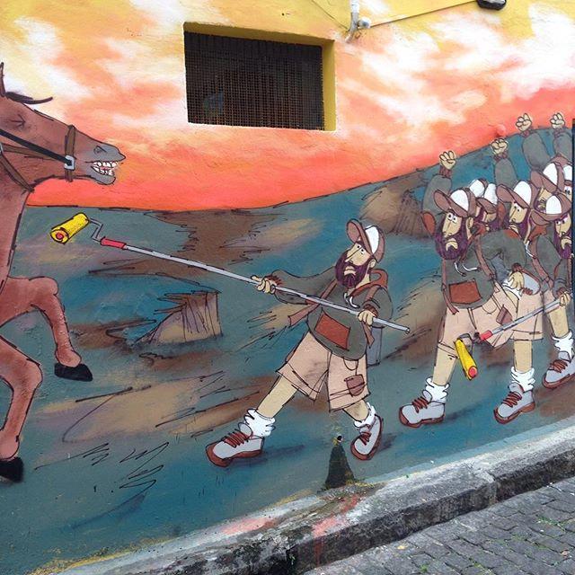 Bom dia! Partiu finalizar o muralzinho aqui na #ladeiradocastro #streetartrio #streetart #barbudinhoandarilho #cazé #cazesawaya #horse
