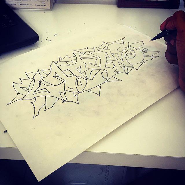 Café da manhã, my sketch !! #streetartrio #hiphoprio