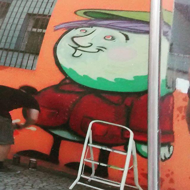Domingao com Cash e Torres ... Nervo crew !!! Laranjeiras #biveselecta #bives #streetartrio #streetart #graffitiarte