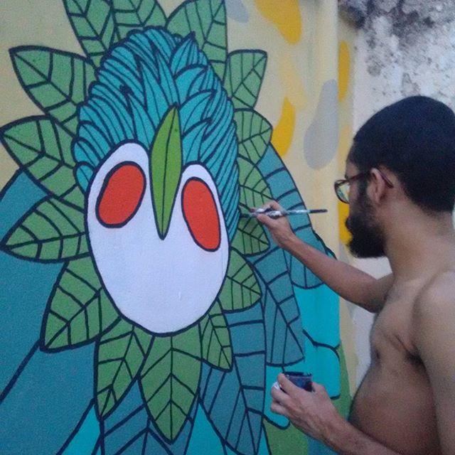Em progresso E um feliz natal à todos! #feliznatal #dezembro #fimdeano #arteurbana #streetartrio #artecarioca #artistacarioca #vscocam #vscoart #streetart #graffitirj #graffiti #sprayart