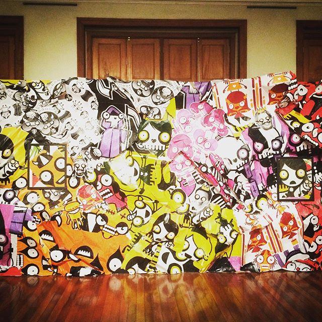 Excellent #Rafo Castro #Exhibit at #Centro #Cultural #Justiça #Federal #streetartrio #CCJF #graffiti #streetart #modernart #brasilame #winterbreak #brasil #brazil #rio