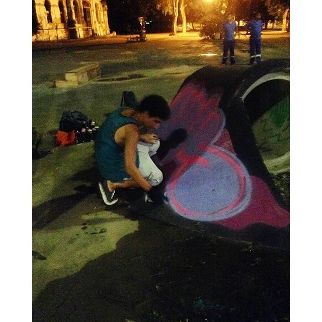 Parte do processo da minha participação na Snake Rap Cultural! #luk #cosmicoscrew #tijuca #skate #graffiti #hiphop #znakeside #snakedomaracana #tijuquistao #mtnrio #loveletters #streetartrio #graffrj