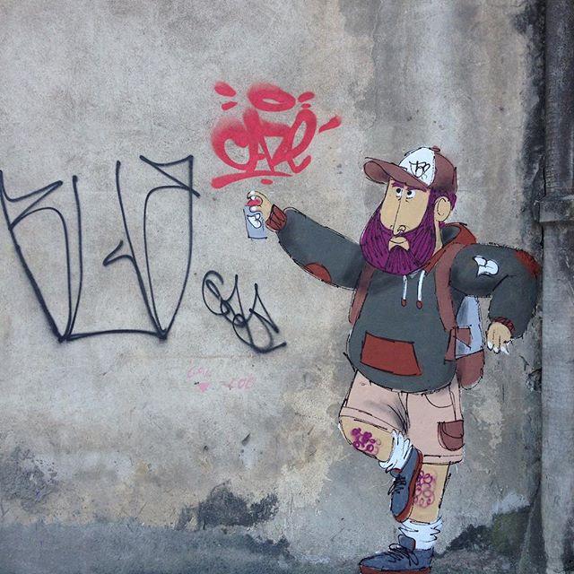 Respeitando para ser respeitado. _____________________________ Workshop de graffiti dia 12 de dezembro na @graffitihouseniteroi em niteroi. #itacoatiara #itaipu #charactergraffiti #cazesawaya #streetartrio #streetart #barbudinhoandarilho