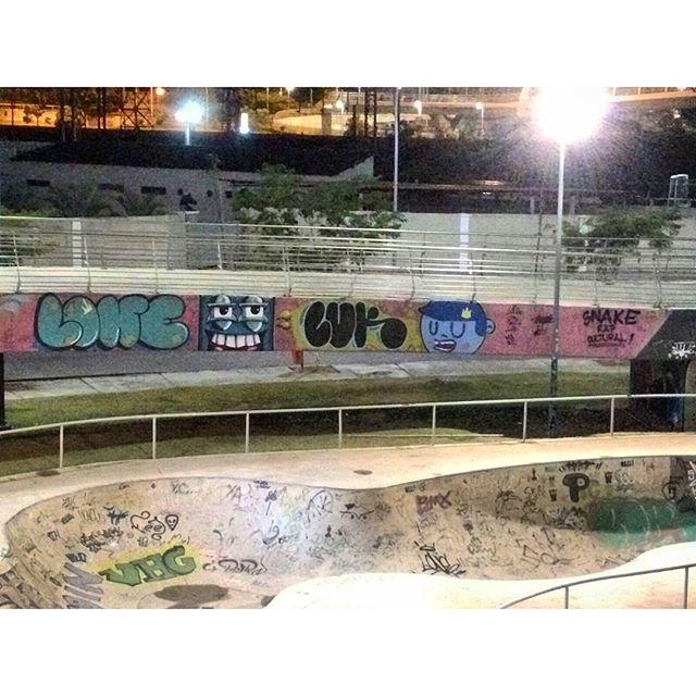 Resultado do graffiti na Snake Rap Cultural! #luk #lone #nadi #cast #021crew #cosmicoscrew #trapacrew #streetartrio #znakeside #snakerapcultural #hiphop #graffitirjzn #zn #graff #rj