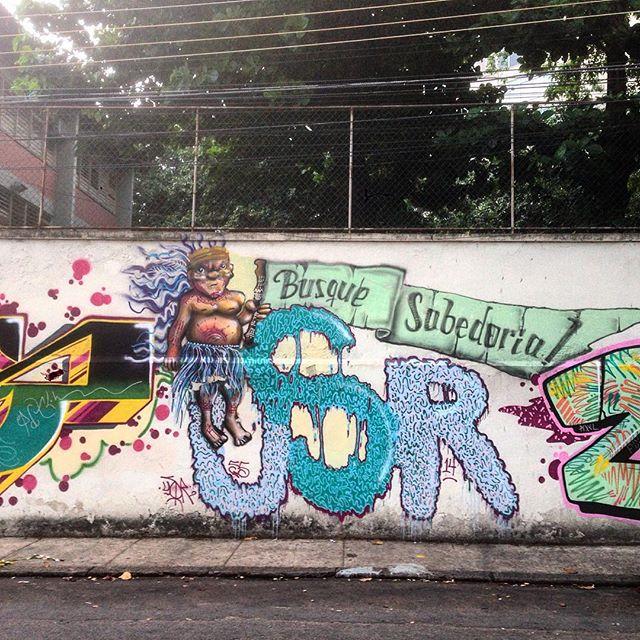 Search for wisdom #graffiti #grafporn #streetart #streetartrio #streetartglobe #urbanart #spraydaily #muralsdaily #gamboa #riodejaneiro #brazil
