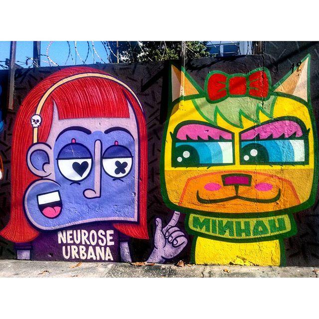 #StreetArtRio Mural na Doutor Satamini, próximo à praça São Francisco Xavier, 4/5 Artistas no detalhe: @chivitz (Chivitz) e @minhau_sp (Minhau) Tirada em 25/12/2015