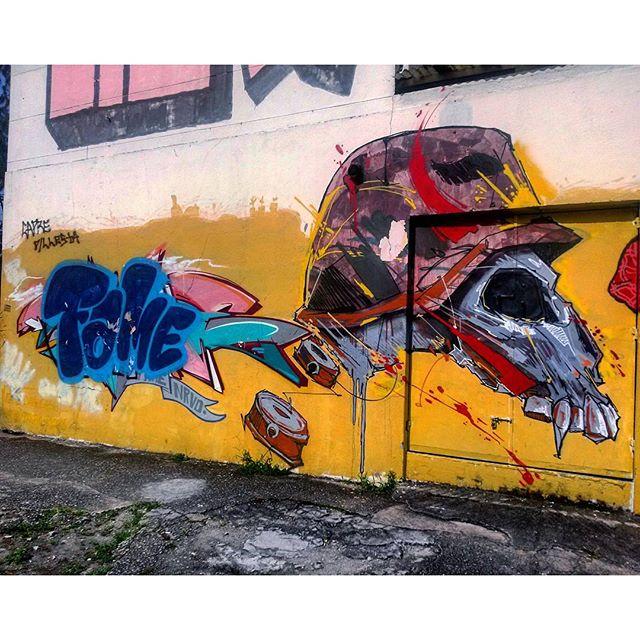 #StreetArtRio [RENOVADO] Mural perto da São Francisco Xavier, 5/5 Artistas: @betofame (Fame) e @davi.baltar (Davi) Tirada em 16/12/2015
