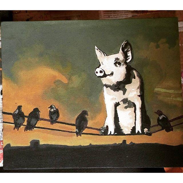 Técnica stencil em Painel, (30 x 25) >Pink Floyd _________________________________ Ateliê X Art ____________________________________ #ateliexart #stencilamao #pinkfloyd #grafiti #arteemtela #arteurbana #stencil. #stencilart #streetartrio #art