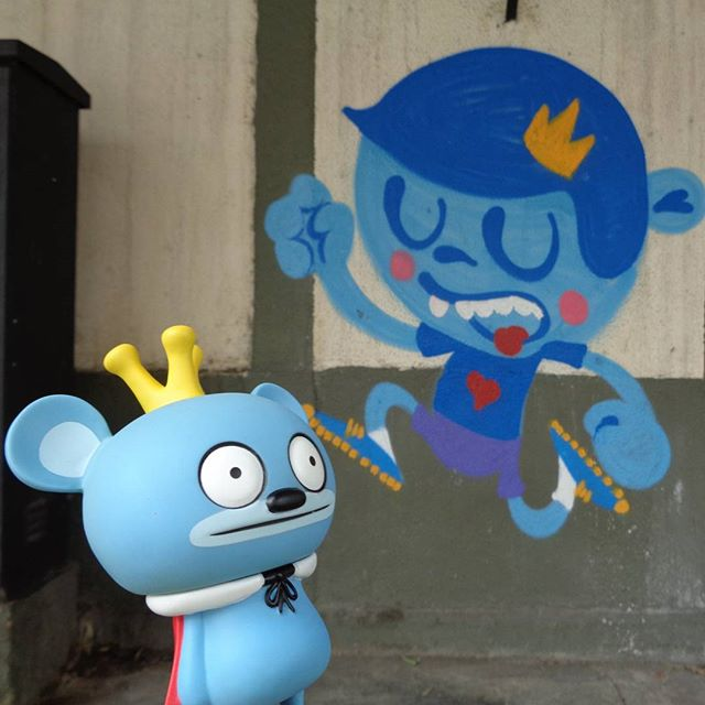 That crown is MINE!!! #bossy #bear #danielnadi #trapacrew #streetartrio #graffitiart