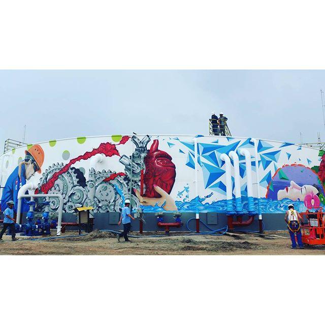 #projetoETEmacaé DAY 11. LAST DAY ! Cabooô!!!! Valeeeeu!!! Equipe que arrasaaa! Obrigada! #graffitiwriters #graffiti #streetartrio