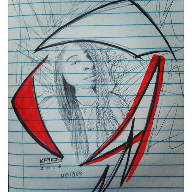 019/365 #Kaos #StreetArtRio #StreetArt #draw #drawing #instadraw #instadrawing #bic