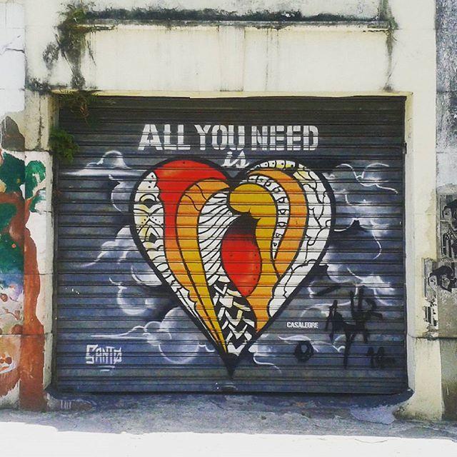 All you need is love #casalegre #santo #streetart #streetartrio #streetarteverywhere #streetartandgraffiti #streetartofficial #arteurbano #artofthestreets #shutterart #riostreetart #santateresa #santateresario #ihaveathingforwalls #allyouneedislove #riodejaniero #iloverio #igersriodejaneiro #igersrio #thisisrio #vivario #vivabrasil #travelsouthamerica