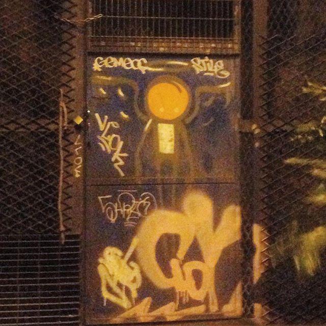 Art done by @warkrocinha The light condition was terrible but I'll post it anyway. Hehehehe! #graffiti #grafporn #streetartrio #streetart #streetartglobe #urbanart #spraydaily #muralsdaily #botafogo #riodejaneiro #brazil