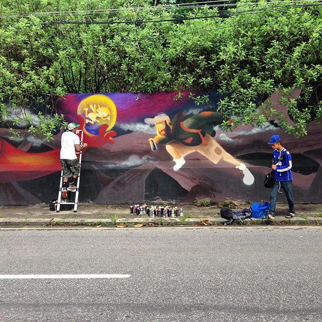 Bom dia! #streetartrio #streetart #streetartnews #cazesawaya #nhobi