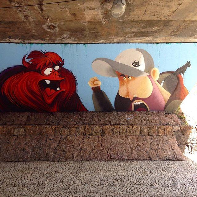 Bota a cara! Variando um pouco... #avchile #cazé #cazesawaya #streetartrio #streetart