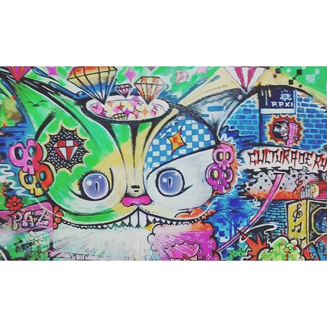 Detalhe tela!!! #paz #culturaderua #street #streetartrio #artederua #arteurbana #paint #sprayart #spraypaint #art #graffiti @sockppxi #gatorisonho #caveira