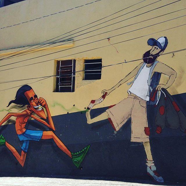 Hum, que chulé! #chuledegrafiteiro + nhobi e onesto (sp) #ladeiradocastro #lapa #streetartrio #streetart #barbudinhoandarilho #cazesawaya #cazé #charactergraffiti #character
