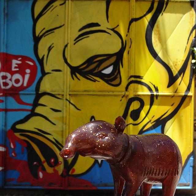 It's a free boy! #mikidewey #tapir #anta #bwanaspoons #streetartrio #graffitiart #birao #putzcrew