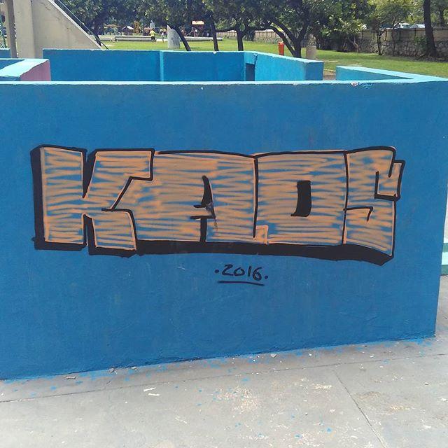 #Kaos #StreetArtRio #StreetArt #ArteUrbanaRJ #ArteUrbana #aterroDoFlamengo #parkour #parkourlife #RJ #errejota #ColorGin