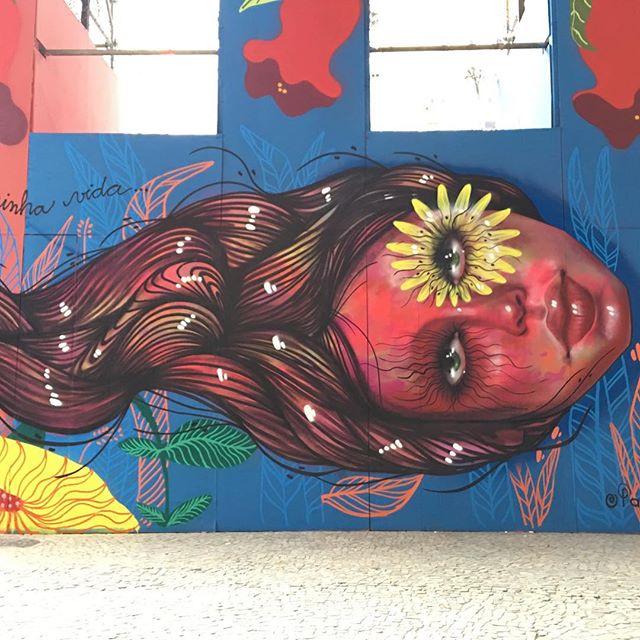 Pedaço do mural para a Caixa Cultural que abrirá a exposição de #Frida no Rio #streetartrio