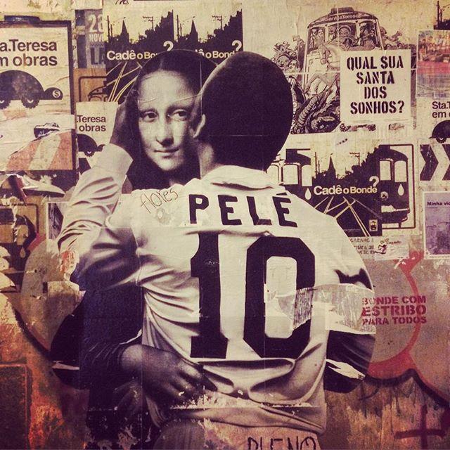 Pelé ️ Mona Lisa ( #RiodeJaneiro #streetart)