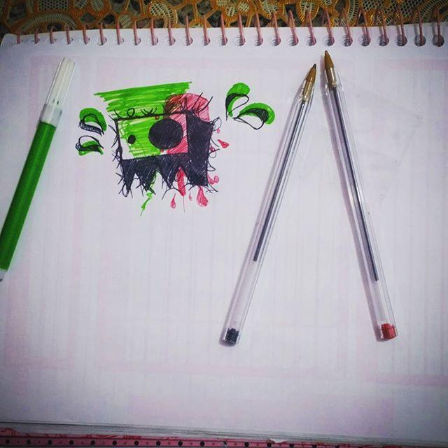 Rascunho ... #canetinha e #canetabic #streetartrio #drawing #aprendendo