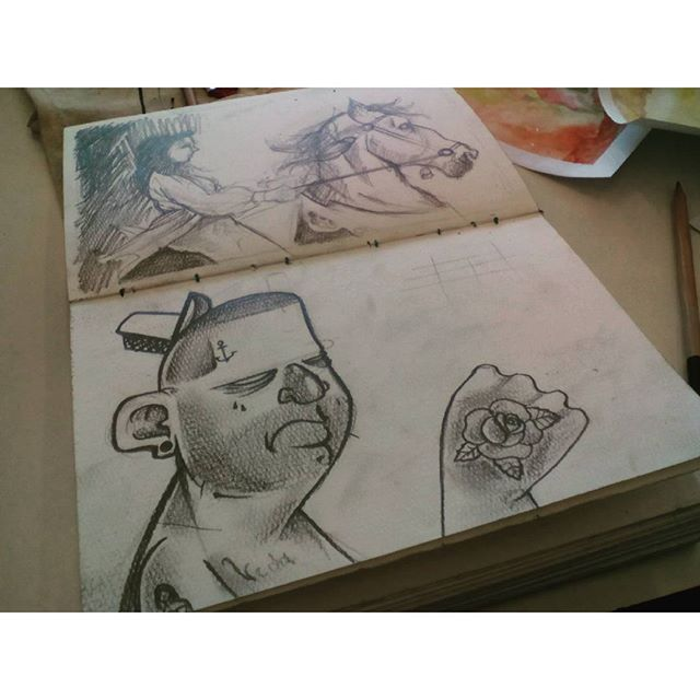 Sketch time! #felipeblunt #streetart #streetartrio #graffitiink #graffitiday #tattooink #tattoo2mecorun #gorua #gostudy #niterói #niteroigram