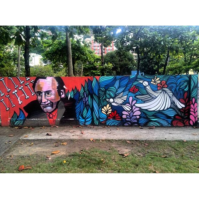 #StreetArtRio Grafite nos muros da Escola Municipal Pedro Ernesto Artistas: @joaonitcho (João Nitcho) e @brunobig (Big) Tirada em 12/01/2016