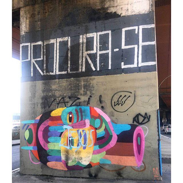 #StreetArtRio Grafite perto do Centro de Convenções SulAmérica Artista: @tainancabral (Tai) Tirada em 18/12/2015
