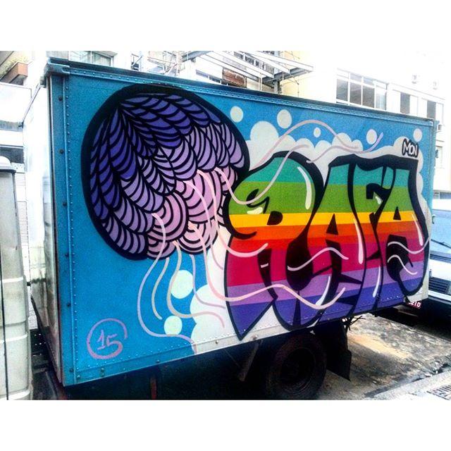 #StreetArtRio Grafite sobre carreta, 5/5 Artista: @_rafamon_ (Rafaela Monteiro)