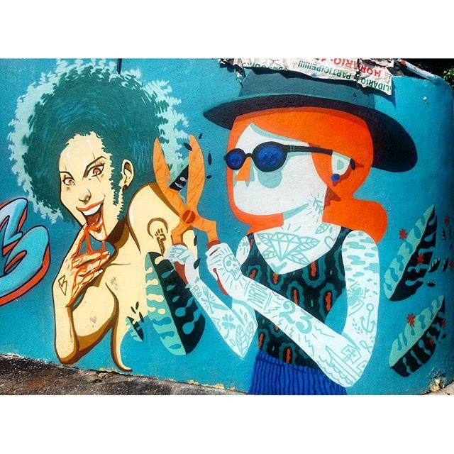 #StreetArtRio Mural no Largo de São Maron, perto da praça São Francisco Xavier, 5/5 Artistas no detalhe: @ilpe77 (Ilpe) e @viniciuscarvas (Cash)
