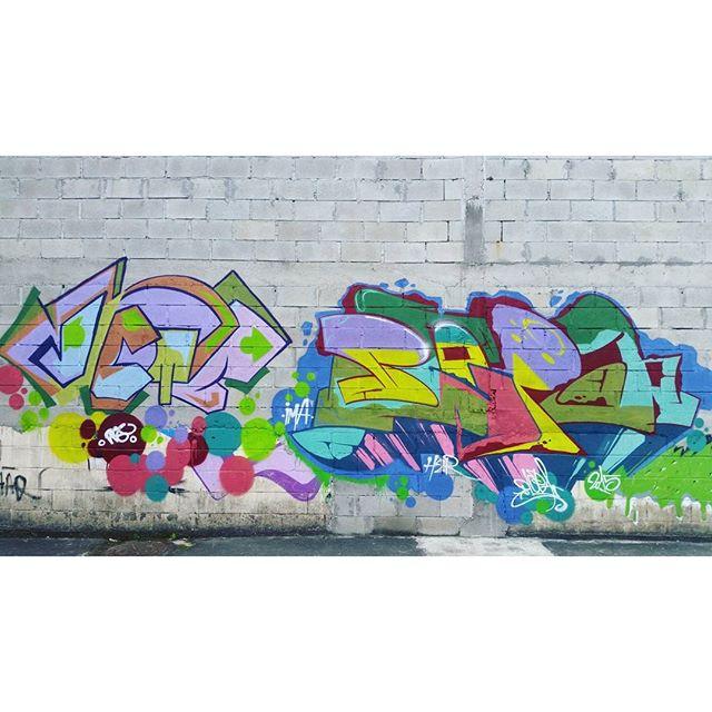 VETÊ + BLOPA #graffiti #graffitiart #streetart #art #arte #arteurbana #graffitikings #letters #weloveletters #artsy #hiphop #street #streetartrio #wildstyle #wildstylegraffiti #graffitilovers #vsco #vscocam #BlopaOne #Blopa