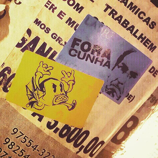 #foracunha #mlkpiranha #streetartrio