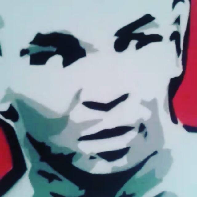 #miketyson #stencil #stencilart #streetartrio #streetart #graffiti #canvas #spray #paint