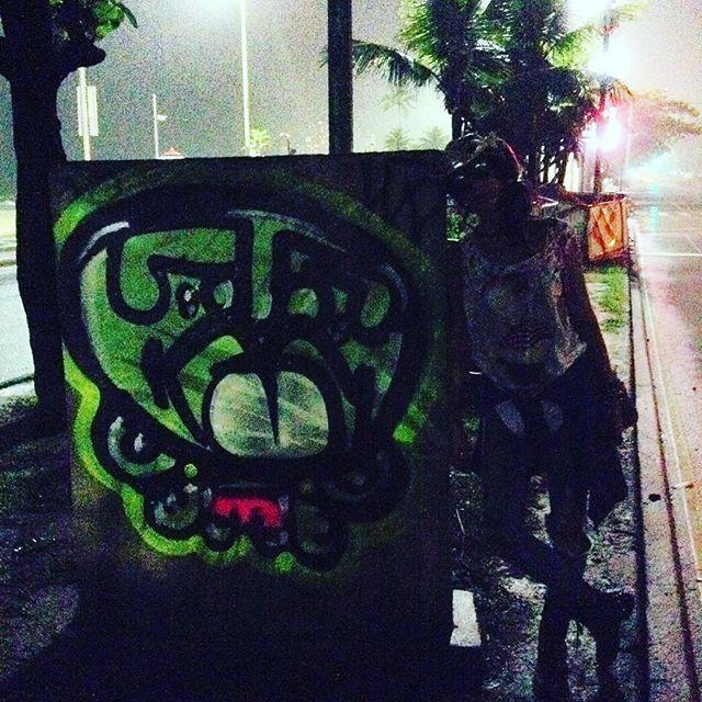 #nightaction @marygirlstyle #djonereal #streetartrio #streetart #graffiti
