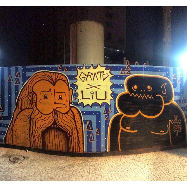 por: @bernardo_liu @gratodompa• #rjvandal #streetartrio #streetart #graffiti #graffitiart #art #riodejaneiro #tags #tagsandthrows #throwsup #throwsupz #bombing #bomb #grafite #artist #artoftheday #arteurbana #rj #urbanart #artederua #rua #graffitiwall #sprayart #vandal #galeriaceuaberto #olheosmuros #bombingbrasil #graffitirio #art #makeartnotwar