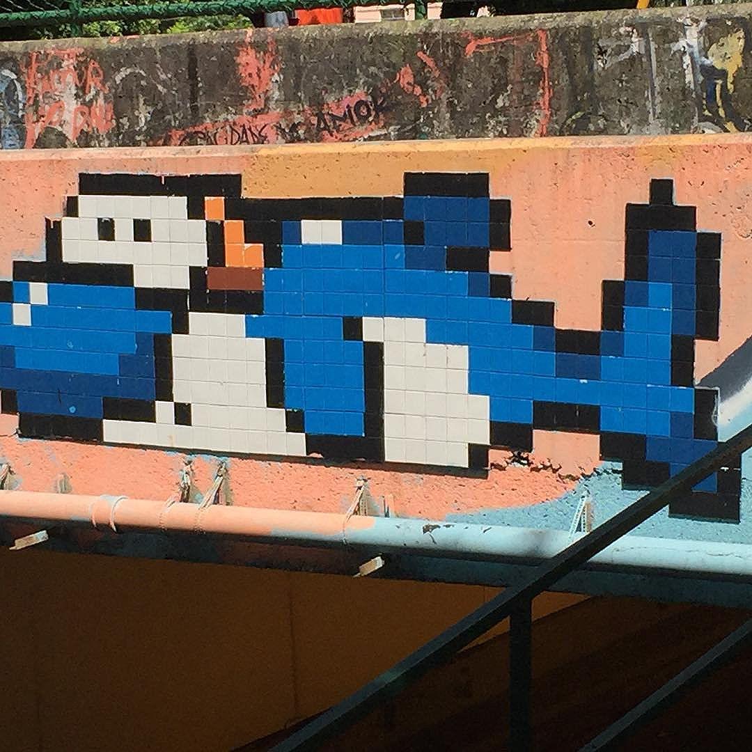 Rio street art tour #Rio #holiday #art #streetart #graffiti #streetartphotography #streetartrio #riostreetarttour #graff #8bitchproject