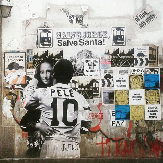 #streetart #streetartrio #monalisa #pele #streetarteverywhere #streetartandgraffiti #streetartofficial #arteurbano #vivario #artofthestreets #riostreetart #vivabrasil #santateresa #santateresario #ihaveathingforwalls #riodejaniero #iloverio #igersriodejaneiro #igersrio #thisisrio #travelsouthamerica