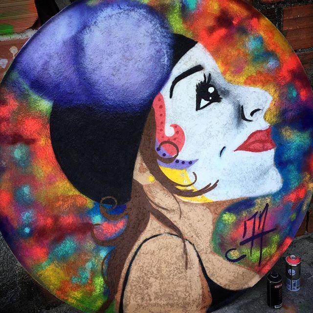 #Columbine #colombina #carnaval #streetartrio #graffitirio