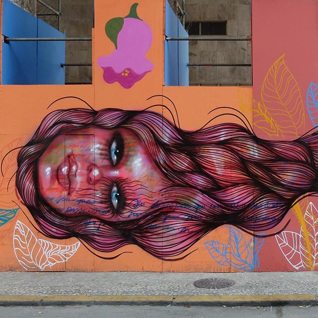 Detail of a mural by @PanmelaCastro in Centro in Rio de Janeiro, Brazil. Beautiful!