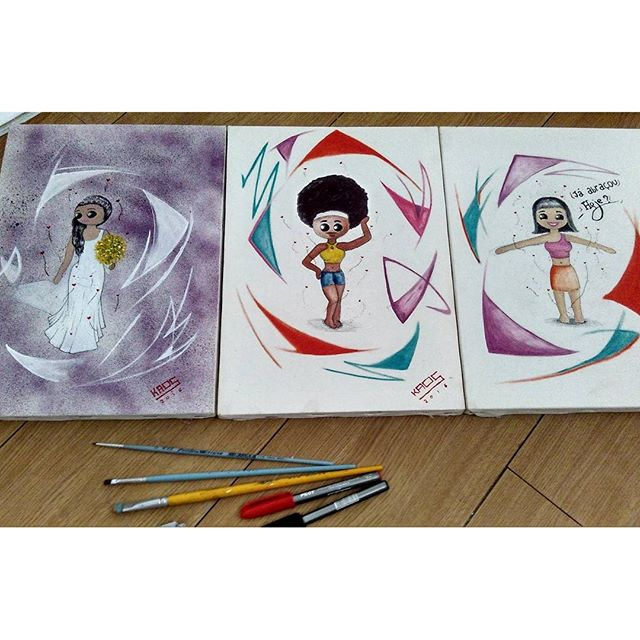 Foram 3 :p #Kaos #frame #quadros #draw #desenhos #desenho #drawing #oleosobretela #oleo #pintura #pintar #ArteUrbanaRJ #StreetArtRio #StreetArtRJ #StreetArt