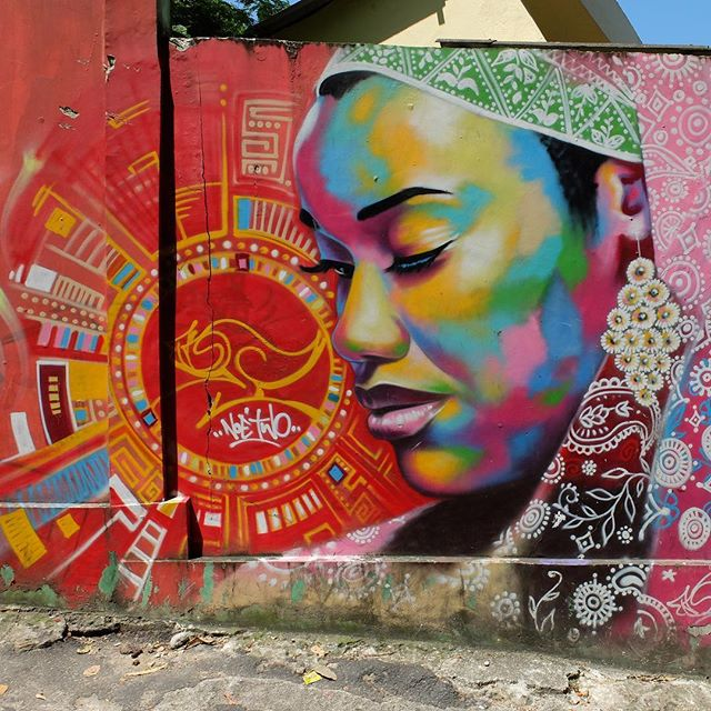 Mural by @NoeTwo in Vidigal in Rio de Janeiro, Brazil. Beautiful!