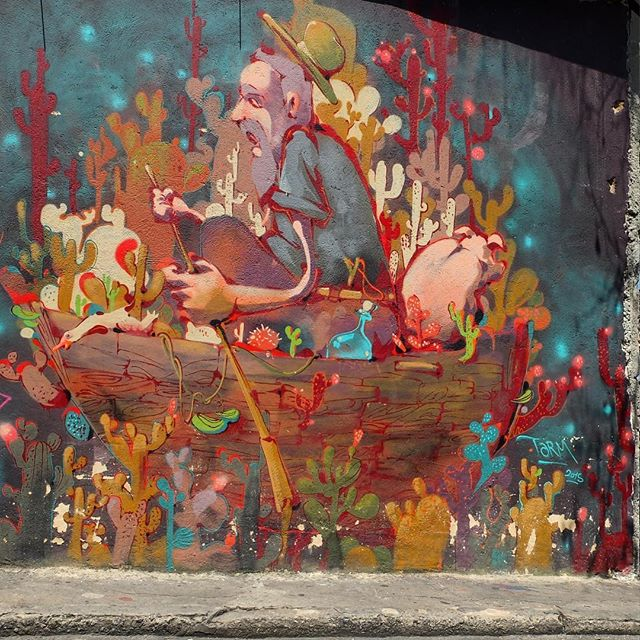 Mural by @Tarm1 in Vidigal in Rio de Janeiro, Brazil. Awesome!