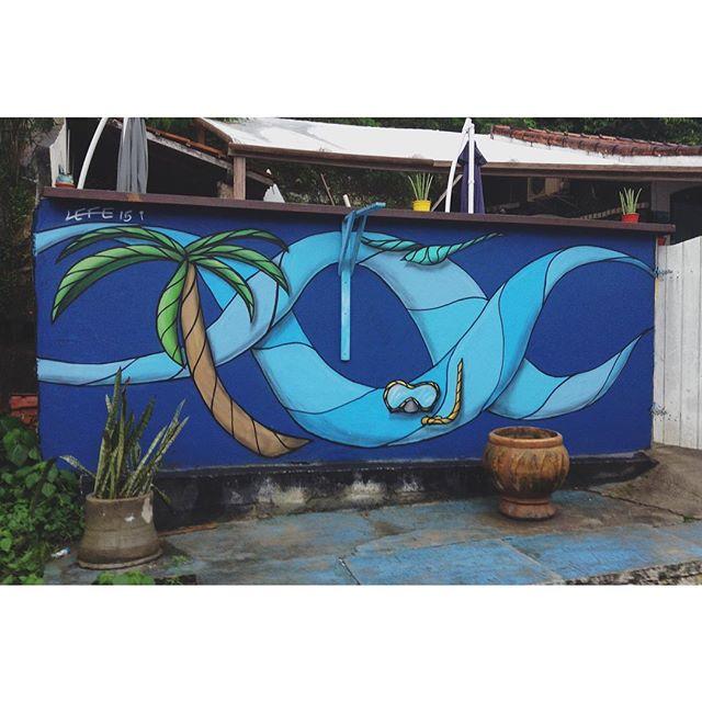 Outra parte do muro la do @EspacoPuraVida, na Barrinha! #graffiti #streetartrio #art #vsco