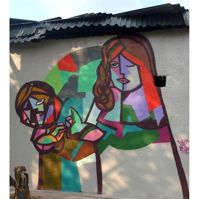 Piece by Sao. #osgemeos #nunca #saopaulostreetart #saopaulo #riodejaneiro #streetartrio #streetart #pixacao #graffiti #instagraff #streetphotography #londonstreetart #pichacao #favelas #favelapainting #originals #favela #brazilstreetart #urbanwalls #urbanart #picasso #brazil #becodebatman #brasil