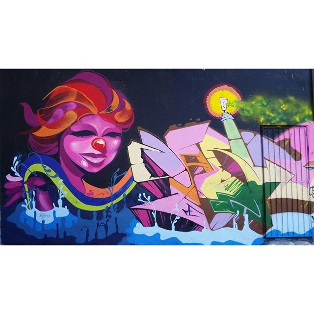 SPAM + BLOPA - 2016 #graffiti #graffitiart #streetart #art #arte #arteurbana #graffitikings #letters #weloveletters #artsy #drawing #SprayArt #vscocam #wildstyle #wildstylegraffiti #graffitilovers #streetartrio #Blopa #BlopaOne #snapseed