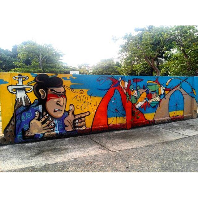#StreetArtRio Grafite nos muros da Escola Municipal Pedro Ernesto, 1/3 Artistas: @chicosilva21 (Chico Silva) e @smael13 (Smael) Tirada em 12/01/2016