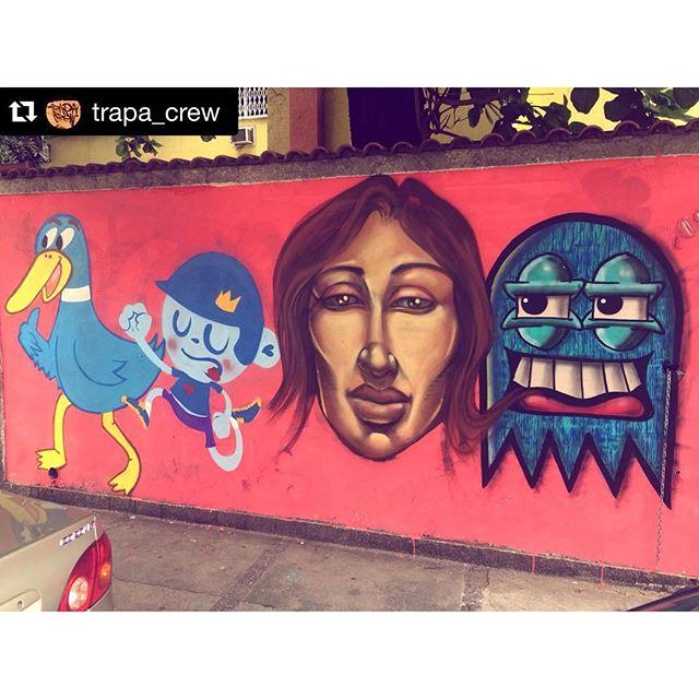 #repost #trapacrew #tjk #tijuca #rj #graffiti #graffitiart #street #streetart #pato #streetartrio
