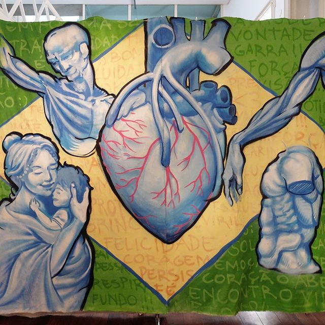 Canvas by @Meton.Joffily at @GaleRioOficial in Botafogo in Rio de Janeiro, Brazil. Healthcare!
