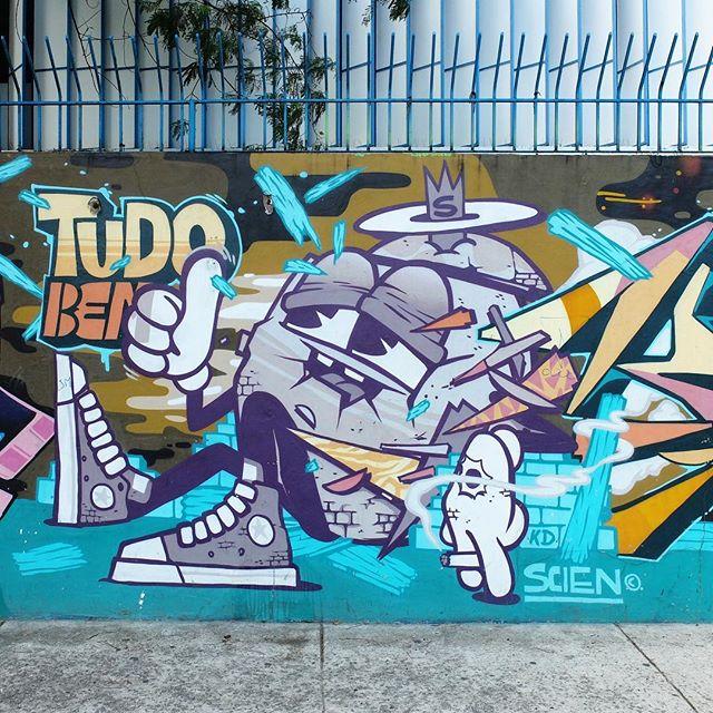Detail of a mural by @123Klan in Lagoa in Rio de Janeiro, Brazil. It is all good!